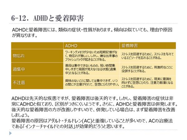 ADHD,愛着障害