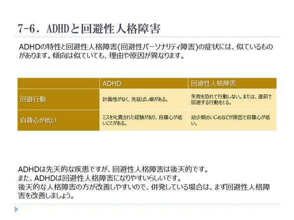 ADHD,回避性人格障害,回避性パーソナリティ障害